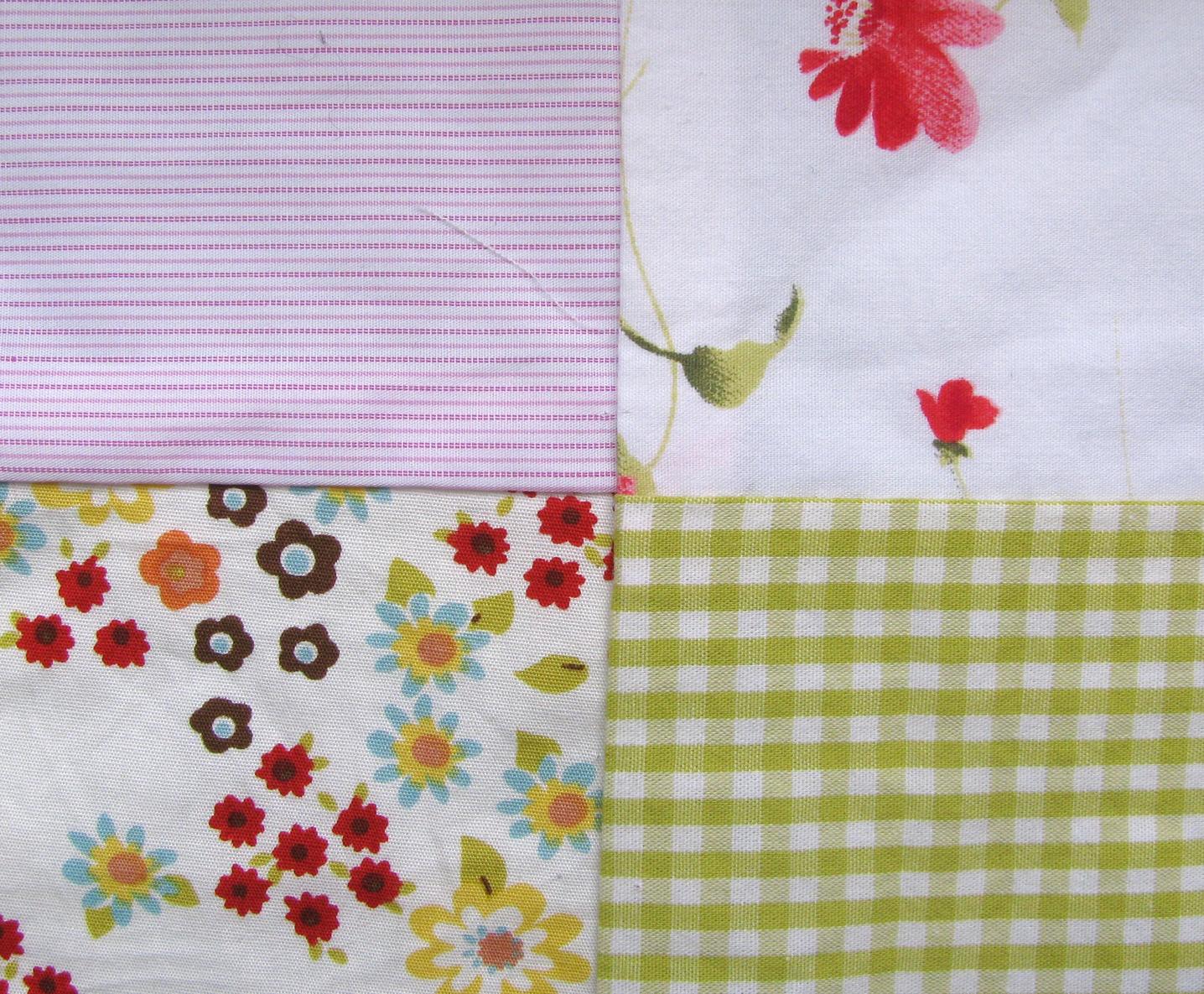 Patchwork-Decke aus Stoffresten