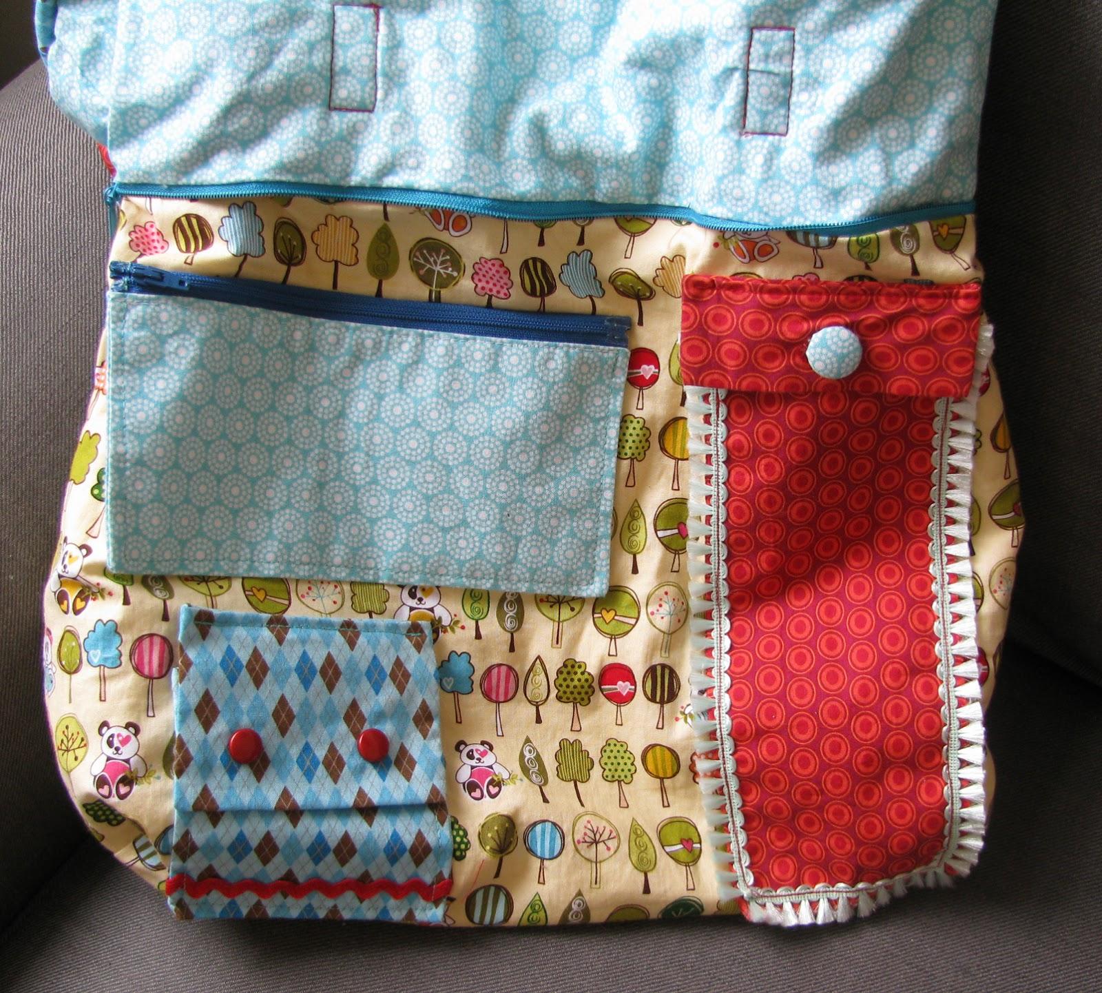 Tasche für Kinder um Verschlüsse zu üben
