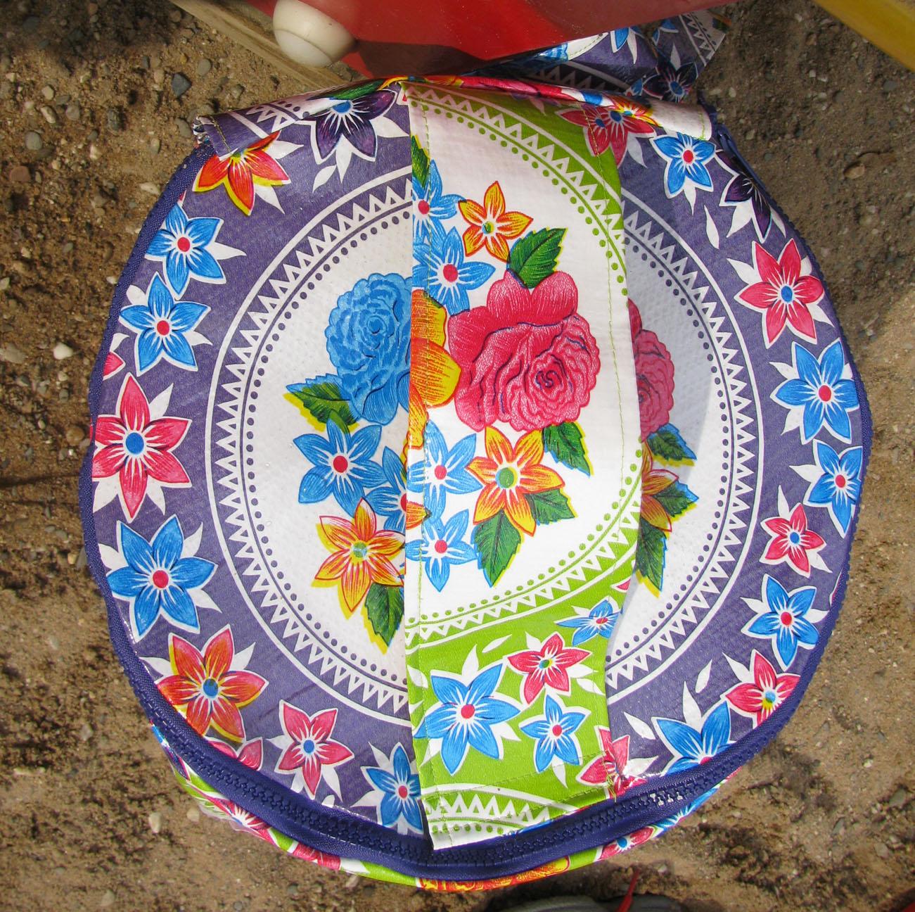 Eimertasche für Sandspielzeug mit Henkel
